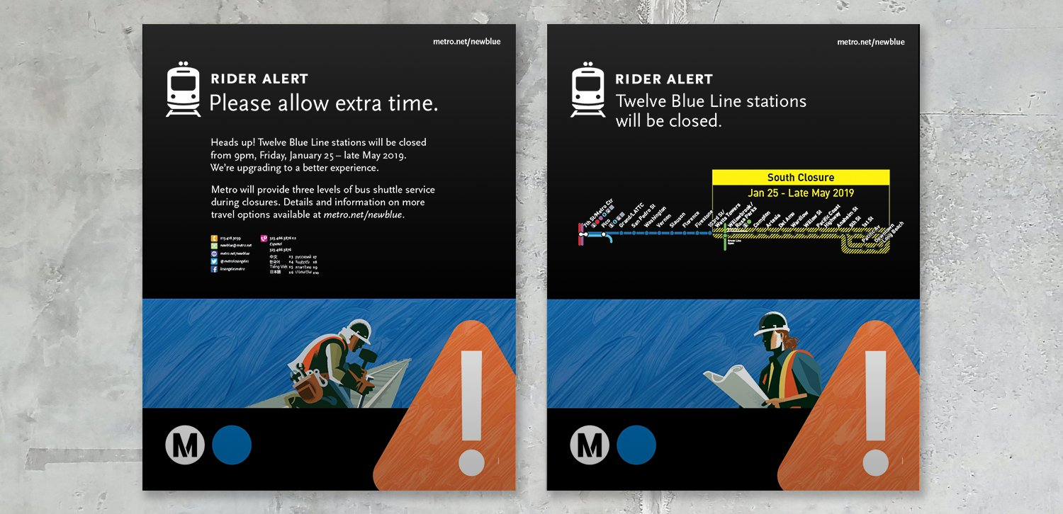 Metro Blue Line: Before Closure 2 Sheets