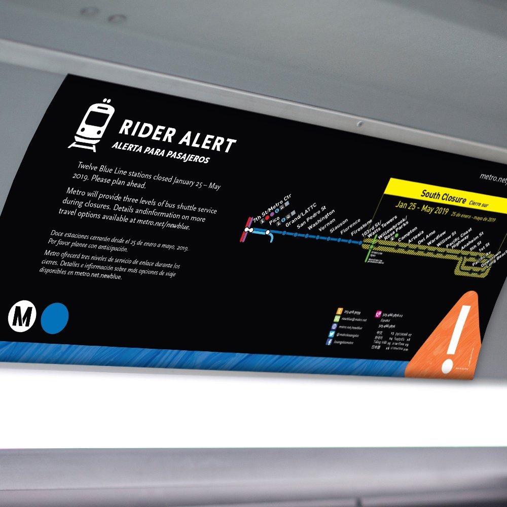 Metro Blue Line: Before Closure Car Card