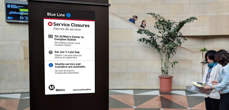 Metro Blue Line: During Closure Digital Display