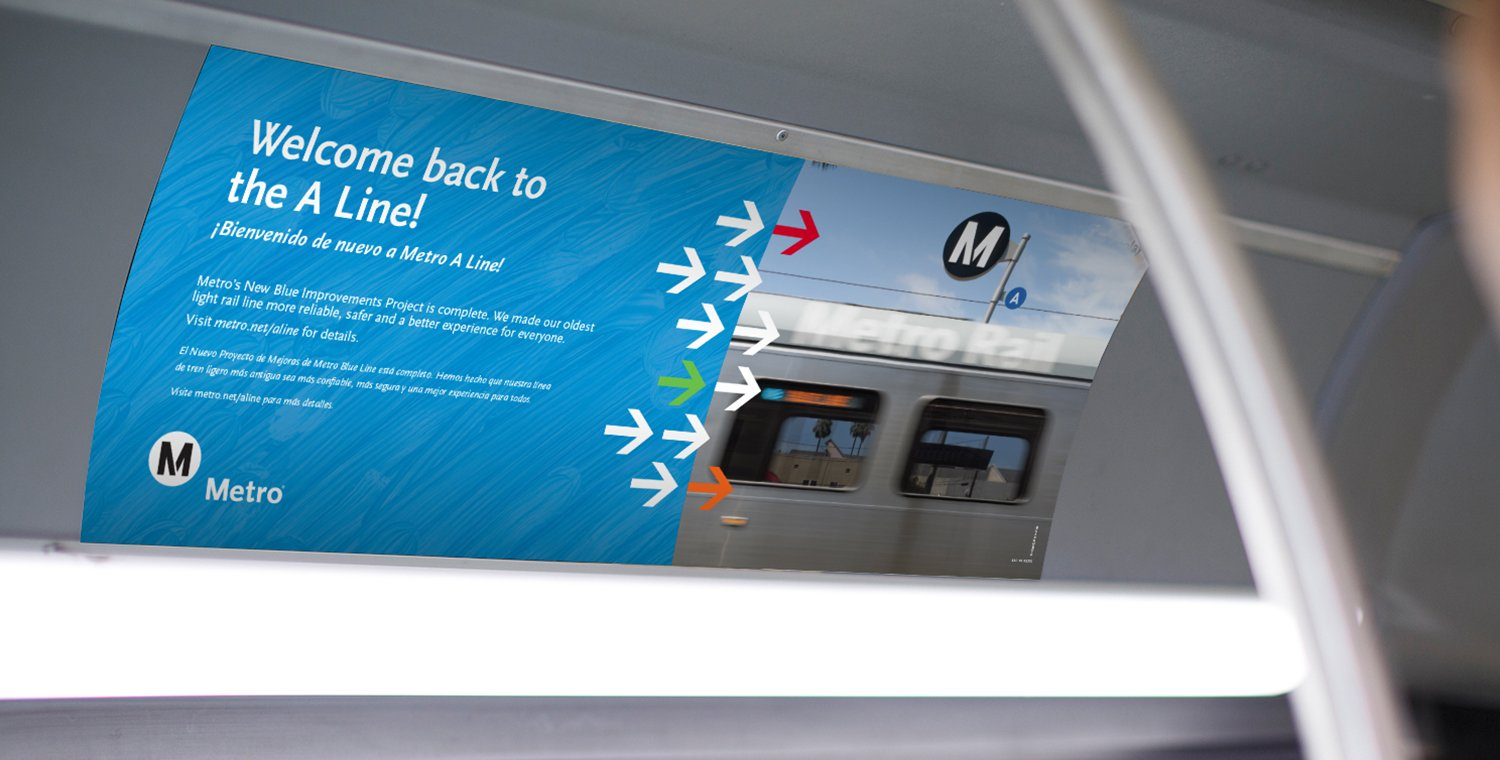 Metro A Line: Reopening Car Card