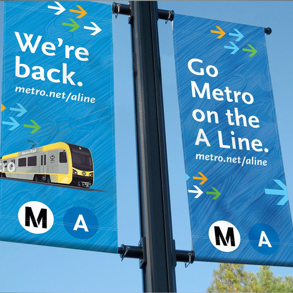 Metro A Line: Reopening Lamp Post Banners