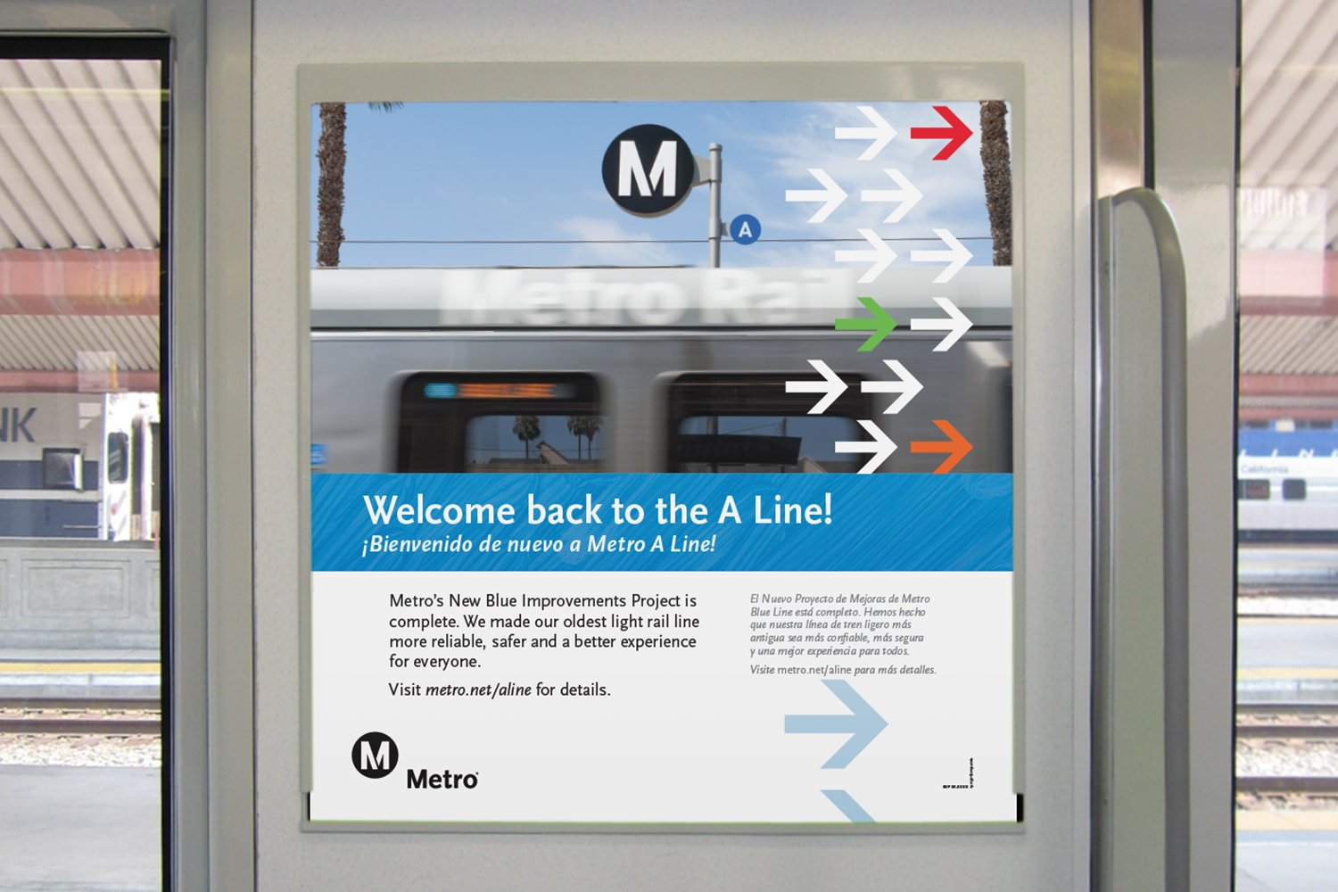 Metro A Line: Reopening Rail Poster