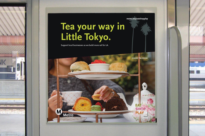Metro Eat Shop Play Little Tokyo Rail Poster