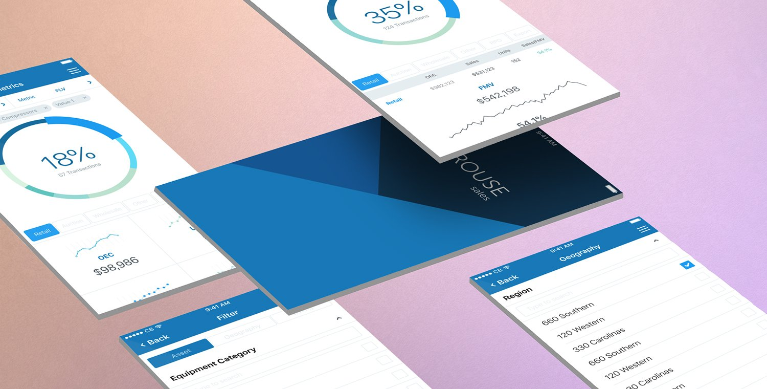 Rouse Sales Mobile App Valuation Tool Multi Screen