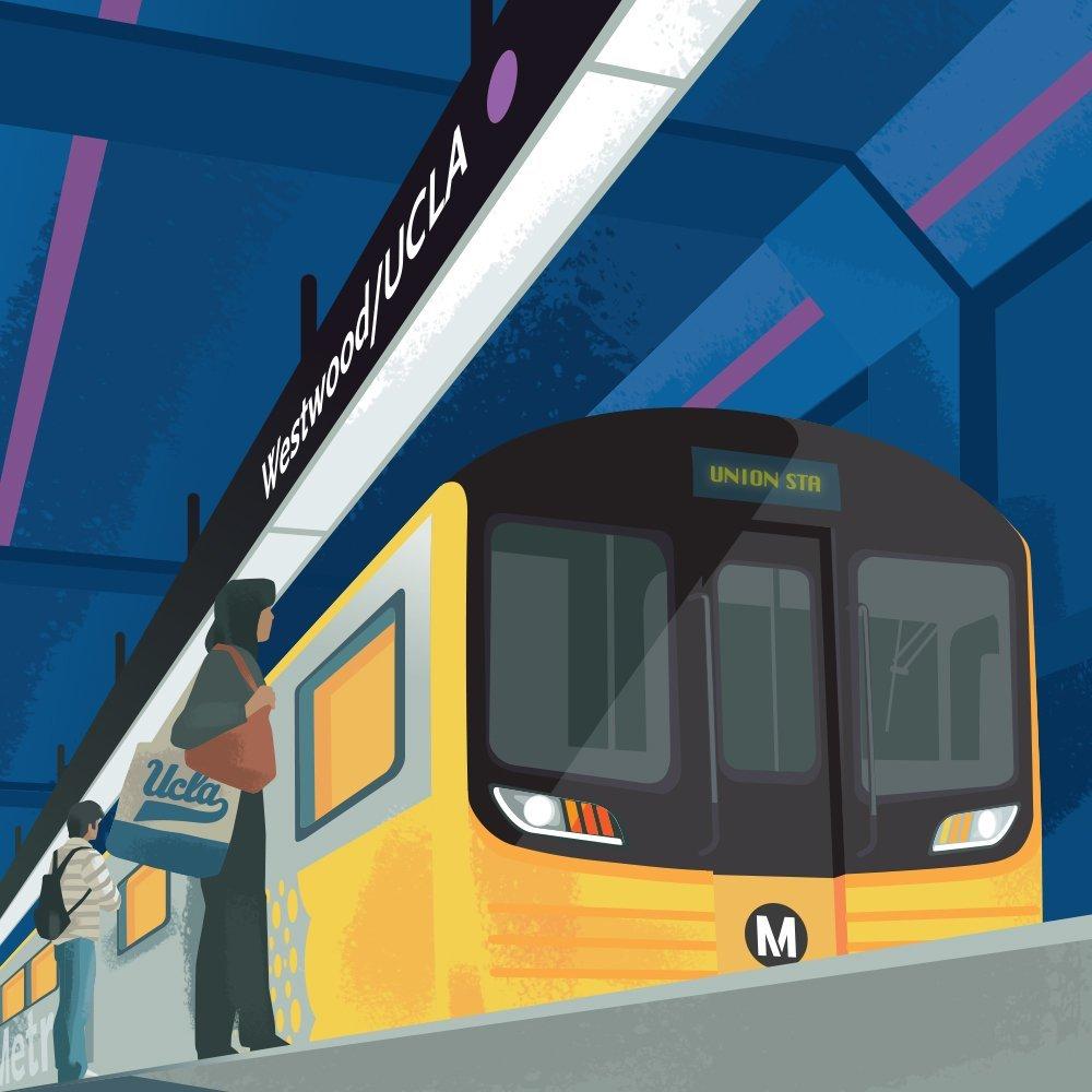 Purple Line Extension New Train Westwood UCLA Station