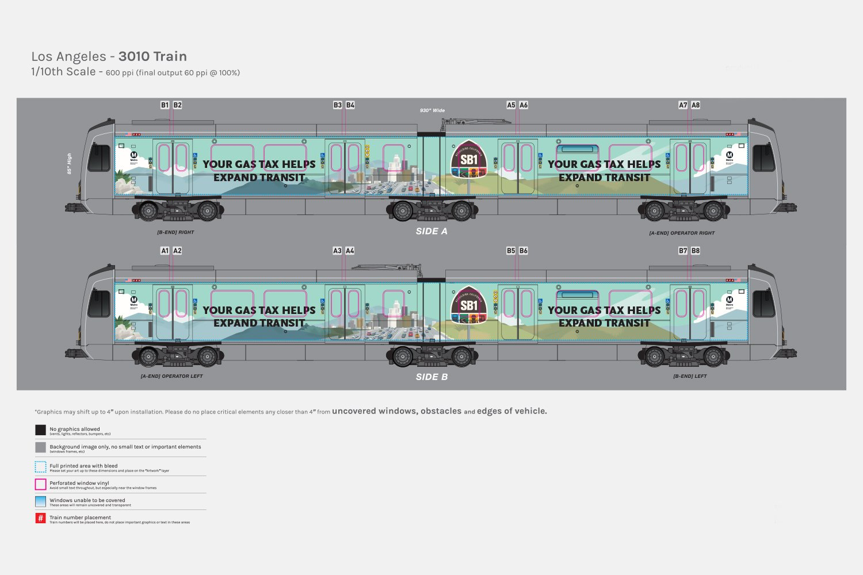 Gas Tax Train Wrap