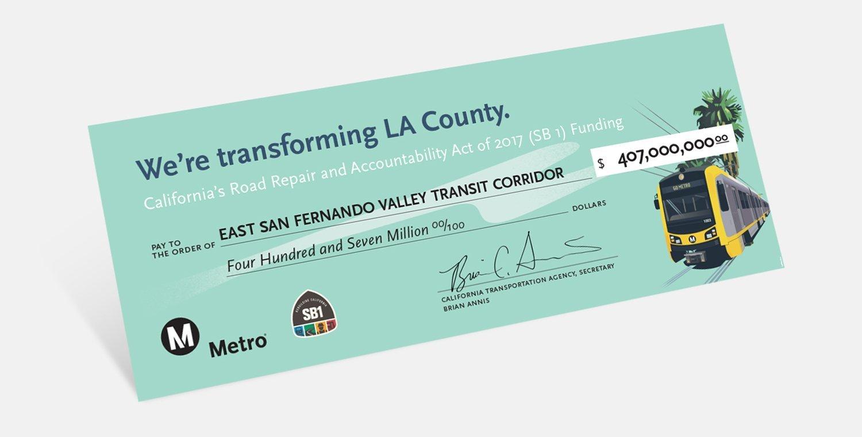 San Fernando Valley Grant Oversized Check